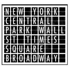 I pinned this Destination Signs New York I from the Around the World in 70 Prints event at Joss and Main!