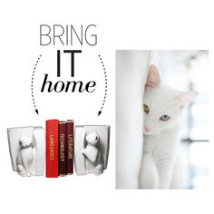 Bring It Home: Cats Bookend Set by polyvore-editorial