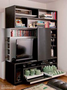 Muebles multifuncionales 6 Furniture For Small Spaces, Home Furniture, Furniture Design, Living Tv, Living Room, Upholstered Sofa, Big Houses, Locker Storage, Sweet Home