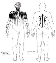Tattoo markings of Mohawk (left) and Cree Indian males: Tattoo History - First Nations Tattoo Images - History of Tattoos and Tattooing Worldwide