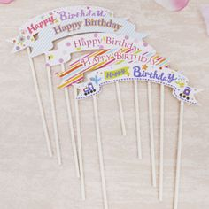 Happy Birthday Banner Cake Topper //Price: $13.95 & FREE Shipping //     #cakedesign