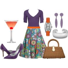 Cocktails on the Terrace at 7:00, created by sadiesue on Polyvore
