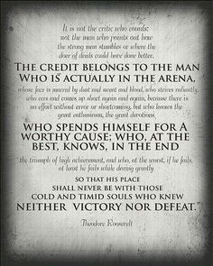 the credit belongs to the man quote - Google Search