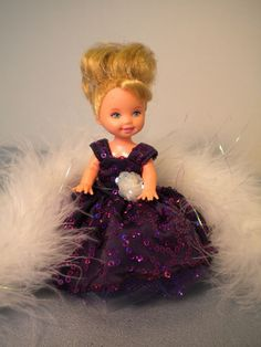 """""""Sequins and Feathers"""" for Kelly Size Dolls 4 1 2"""" by Paula 
