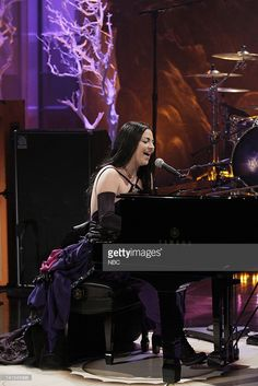 Amy Lee of musical guest Evanescence performs on February 1, 2012 -- Photo by…