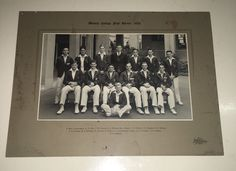 WESLEY COLLEGE 1938 1ST ELEVEN CRICKET TEAM PHOTOGRAPH