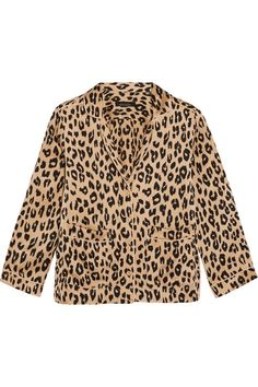 Leopard-print washed-silk Button fastenings through front 100% silk Dry cleanAs seen in The EDIT magazine