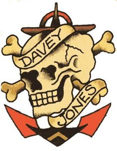 Davey Jones - Vulture Graffix - Printed T shirts from $9.35US plus postage. Sailor Jerry,Tattoo Flash | Mail Order T Shirt, #Psychobilly #Rockabilly #ink #flash #tattoo #Vintage Tattoo Designs #TShirt #Sailor Jerry #Retro #Clothes