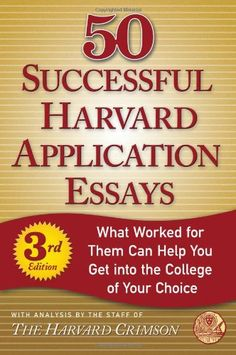 Bestseller Books Online 50 Successful Harvard Application Essays, Third Edition: What Worked for Them Can Help You Get into the College of Your Choice (Harvard Crimson)  $9.15  - http://www.ebooknetworking.net/books_detail-0312624387.html