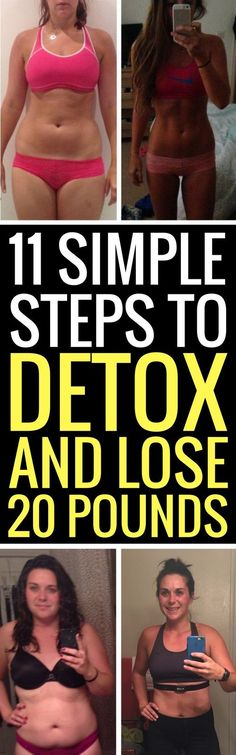 11 simple ways to detox your body and lose weight at the same time.