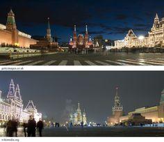 نورپردازی متناسب با کاربری در میدان سرخ مسکو