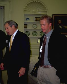 Eric Alexander, author of The Summit: Faith Beyond Everest's Death Zone with former President George W. Bush.