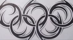 How to Draw the Olympic Rings - Tribal Tattoo Design Style - YouTube