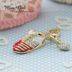 Swarovski Crystal Gift Red Sporty Tennis Shoes Designer Charms Keychains   eBay $10.99