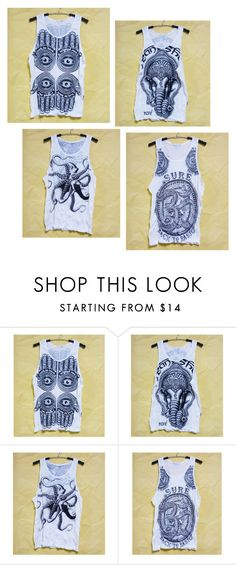 """""""India tank top"""" by workouttee ❤ liked on Polyvore"""