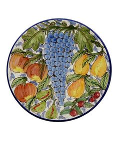 Take a look at this Mixed Fruit Round Platter by Le Souk Ceramique on #zulily today! $59 !!