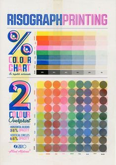 Our original colour chart showing available inks and colour overlays. Now sold out. Printed on Cyclus Offset. Graphic Design Print, Graphic Design Typography, Graphic Design Illustration, Digital Art Beginner, Chart Design, Design Design, Design Trends, Art Zine, Plakat Design