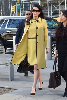 Amal Clooney's Maternity Style Is Right Out of Jackie Kennedy's Playbook