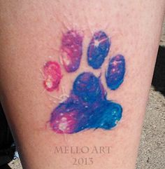 Rainbow paw print  Galaxy Paw Print Tattoo by yelloemello.deviantart.com on @deviantART