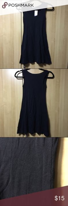 Tank Top Dress Black ribbed tank top dress, or wear as a black slip. Questions welcomed. Max Rave Tops Tank Tops