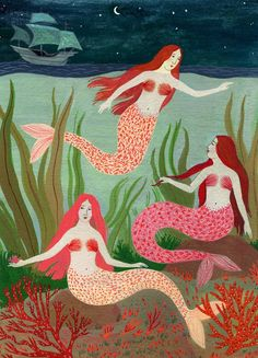 mermaids-becca stadtlander illustration