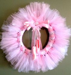 Pink Ballerina TuTu Wreath by WreathUnique on Etsy