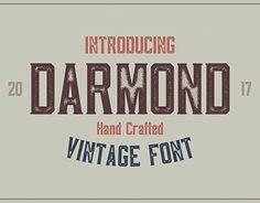 "Check out new work on my @Behance portfolio: ""Darmond - Vintage Font"" http://be.net/gallery/59296383/Darmond-Vintage-Font"