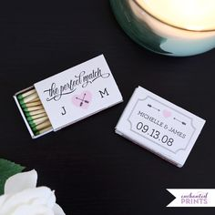 The Perfect Match Printable Wedding Favor for Matchboxes - Customizable - DIY - Instant Download on Etsy, $5.62 CAD