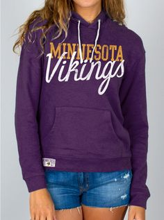 Junk Food Clothing - NFL Minnesota Vikings Crew - Womens - Sale