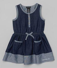 Look what I found on #zulily! Denim Pocket Dress - Infant, Toddler & Girls #zulilyfinds