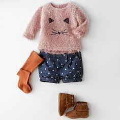 Conjunto 3 peças camisola, calções e collants R Baby | La Redoute