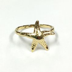 Mama Sea Star Gold Stacking Ring $48 | Tidepool Love