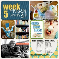 Project Life (week 5, day 5): Reading and Words He Knows
