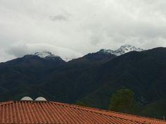 Picos nevados, desde la ciudad de Mérida. Año junio 2014