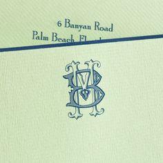 mint and navy Stationery Paper, Stationery Design, Wedding Stationery, Wedding Invitations, Fine Stationery, Stationery Store, Monogram Design, Monogram Letters, Monogrammed Stationery