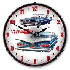 Nostalgic Lighted Wall Art Sign Ford  Thunderbird 50th Anniversary Neon Clock