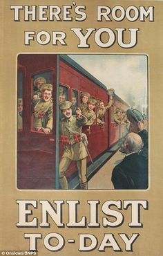 There's room for you, enlist today! BRITISH WW I 1915 ..JUL16
