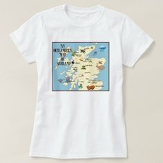 Shop Outlander Map of Scotland T-Shirt created by OutlanderFanMerch. Personalize it with photos & text or purchase as is! Outlander Book, Tee Shirts, Tees, Shirt Style, Colorful Shirts, Scotland, Your Style, Fitness Models, Shirt Designs