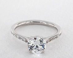 engagement rings, danhov, 14k white gold classico single shank engagement ring style we522q by danhov item 59879 - Mobile