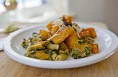Sweetsonian: Roasted butternut squash, penne, and pistachio pesto