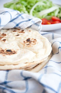 Recipe for Thick Fluffy Tortillas, totally made from scratch. They are perfect for wraps and soft like a pillow. 6 ingredients only! Fluffy Flour Tortilla Recipe, Homemade Tortillas, How To Make Tortillas, Flour Tortillas, Fun Baking Recipes, Bread Recipes, Vegan Recipes, Vegan Meals, Cooking School