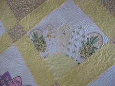 hankie quilt | Quiltz: My Quilt for the Blogger's Quilt Festival: A Handkerchief ...