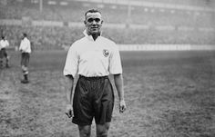 Centre half, AE Page, makes his debut for Tottenham Hotspur against Newcastle United at White Hart Lane. JA Hampton, 1937.