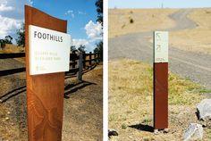 City of Whittlesea Quarry Hills interpretation Park Signage, Directional Signage, Wayfinding Signs, Outdoor Signage, Environmental Graphic Design, Environmental Graphics, Totems, Sign System, Exterior Signage