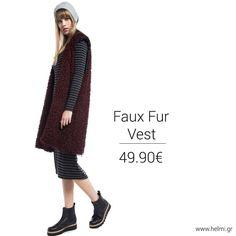 Faux Fur Vests, Sweaters, Dresses, Fashion, Vestidos, Moda, Fashion Styles, Sweater, Dress