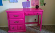 I did something like this to my dresser, some picture frames, and my closet door- cute pop of color
