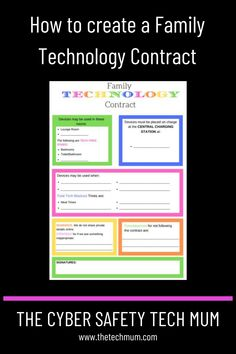 How to create a Family Technology Contract | Media Contract | Cell Phone Contract | Technology Rules | Internet Safety Tips for Parents | Cyber Safety for Kids Cyber Safety For Kids, Internet Safety Tips, Screen Time For Kids, Cell Phone Contract, Parental Control, Create A Family, Educational Websites, Mom Blogs, Parenting
