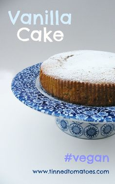 Vegan Vanilla Cake. Sweet, moist and light, a truly wonderful cake and such an easy one to make. #vegan ..for Hilary