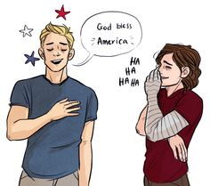 Bucky's the only one who adores Steve's singing.