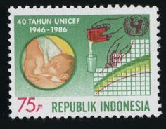 UNICEF stamp - Indonesia, 1986
